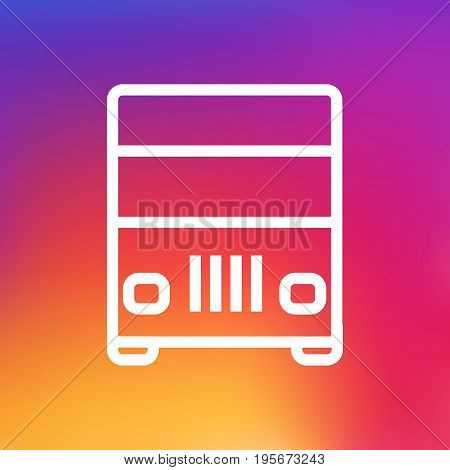Isolated Truck Outline Symbol On Clean Background. Vector Lorry Element In Trendy Style.
