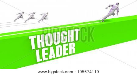 Thought Leader as a Fast Track To Success 3D Illustration Render