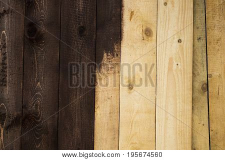 Half Painted White Wood Planks Texture Background