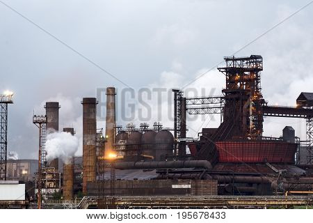 Blast Furnace, Iron Production, Metallurgical Production.