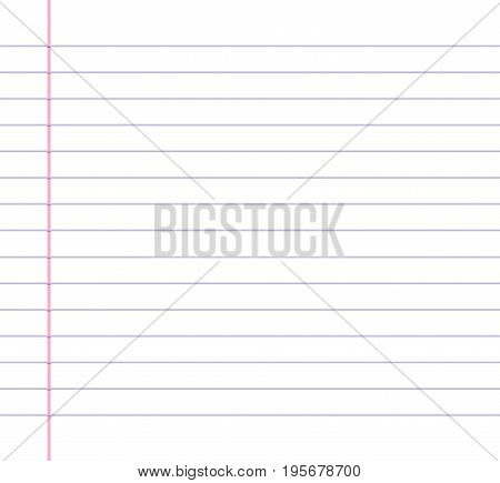 Lined or ruled paper background with blue horizontal lines and a red vertical margin line on the left hand side.