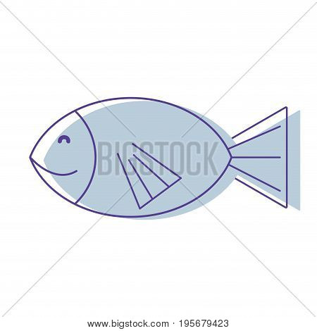 fresh fish animal to preparation meal vector illustration