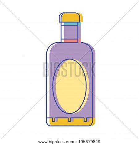 wine bottle liquor to special celebration vector illustration