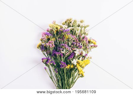 Bouquet Of Multicolored Wildflowers