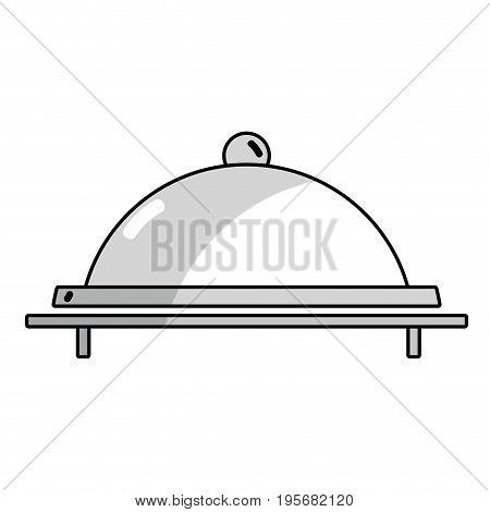 line catering service to special celebration vector illustration