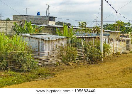 Slum Rural Village, Guayas, Ecuador