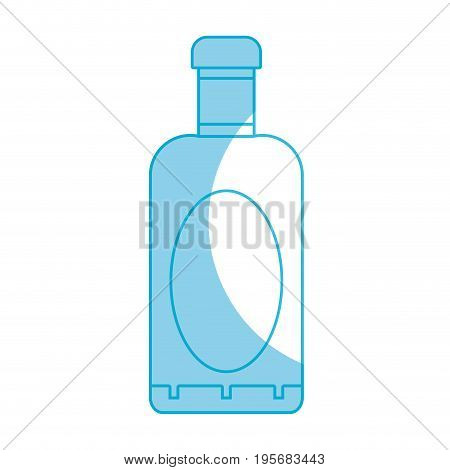 silhouette wine bottle liquor to special celebration vector illustration