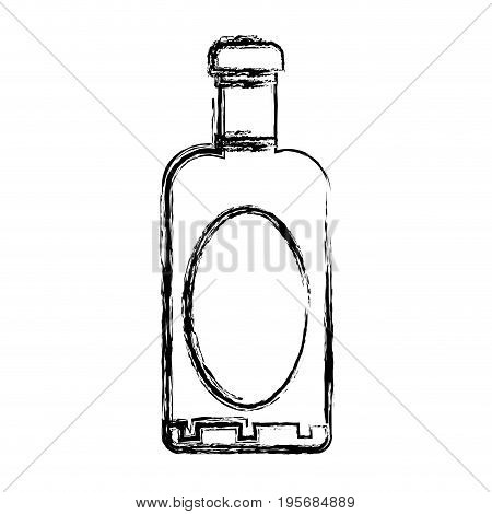 figure wine bottle liquor to special celebration vector illustration