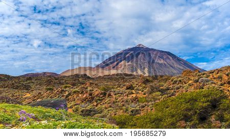 Teide mountain volcano in the Teide National Park Tenerife Canary Islands Spain.