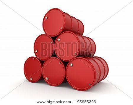 3D Rendering Red Barrels