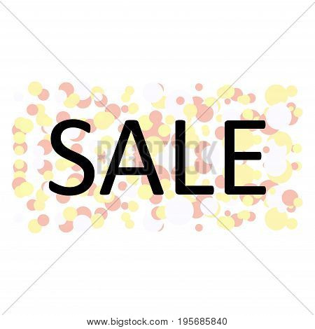 Store sale background with circles on white background.