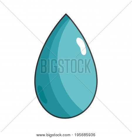 water drop symbol to environment care vector illustration