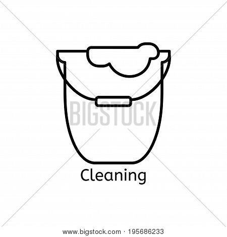 Cleaning Simple Line Icon. Wash Thin Linear Signs. Washing Floors Simple Concept For Websites, Infog