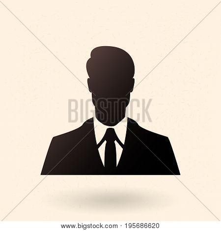 Vector Black Silhouette Icon - Businessman