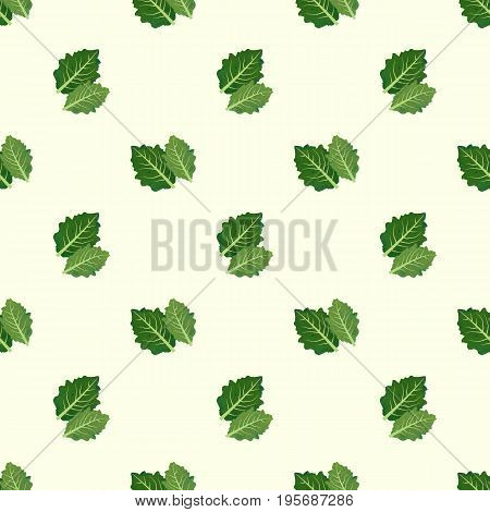 Seamless Background Image Colorful Watercolor Texture Vegetable Food Ingredient Butterhead
