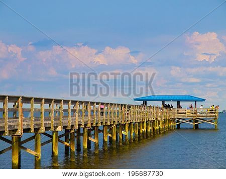 HDR photo image of Safety Harbor Pier