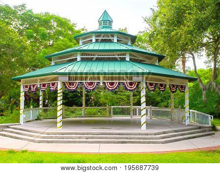 HDR photo i,age of a Gazebo in Safety Harbor, FL