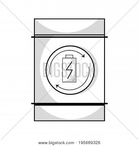 line battery tank to conservation and environment care vector illustration