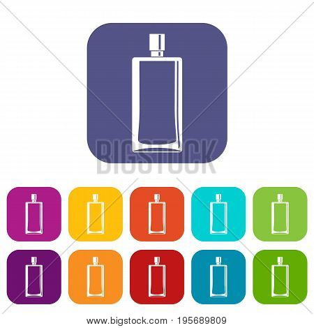 Scent icons set vector illustration in flat style In colors red, blue, green and other
