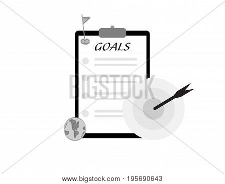 taget goal arrow icon concept bussiness success