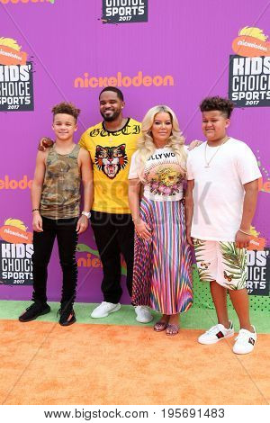 LOS ANGELES - July 13:  Prince Fielder, Guests at the Nickelodeon Kids' Choice Sports Awards 2017 at the Pauley Pavilion on July 13, 2017 in Westwood, CA
