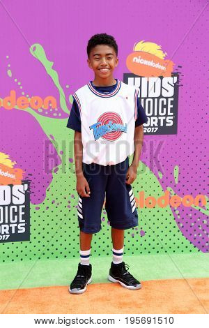 LOS ANGELES - July 13:  Miles Brown at the Nickelodeon Kids' Choice Sports Awards 2017 at the Pauley Pavilion on July 13, 2017 in Westwood, CA