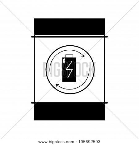 contour battery tank to conservation and environment care vector illustration