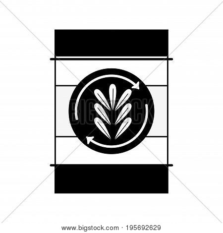 contour tank with plant symbol to environment care vector illustration