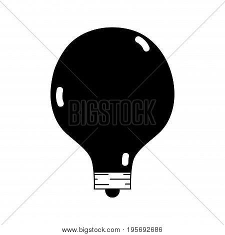 contour energy bulb to illuminate places vector illustration icon