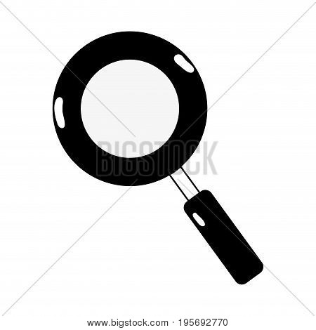 contour magnifying glass symbol to search and exploration vector illustration