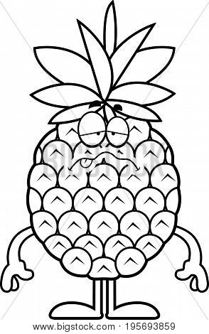 Sick Cartoon Pineapple
