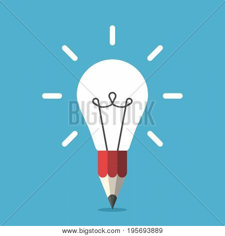 Light Bulb And Pencil
