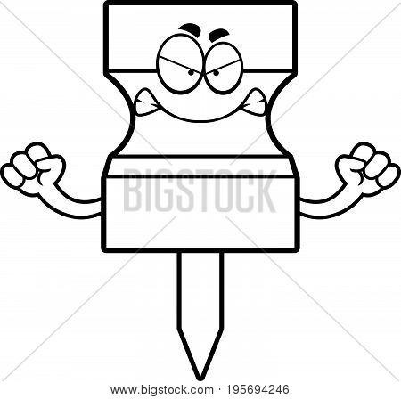 Angry Cartoon Pushpin