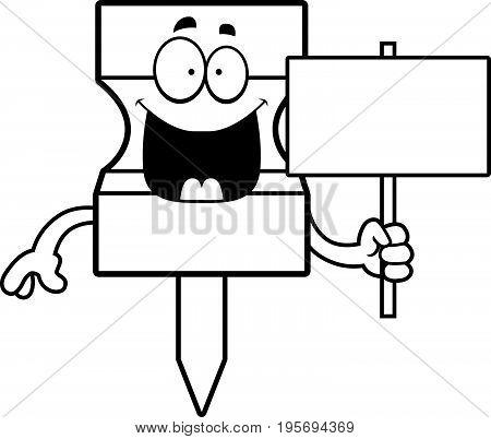 Cartoon Pushpin Sign