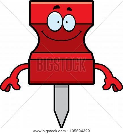 Happy Cartoon Pushpin
