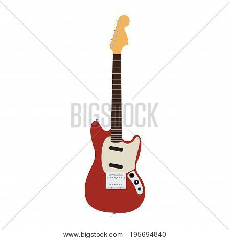 Isolated electric guitar on a white background, Vector illustration