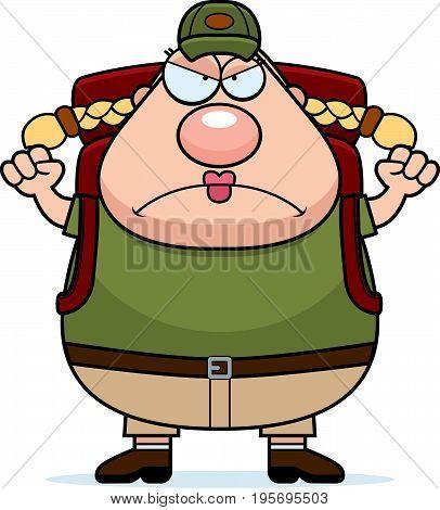 Angry Cartoon Hiker
