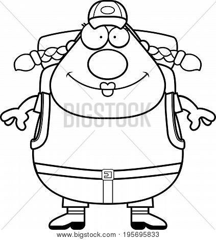 Happy Cartoon Hiker