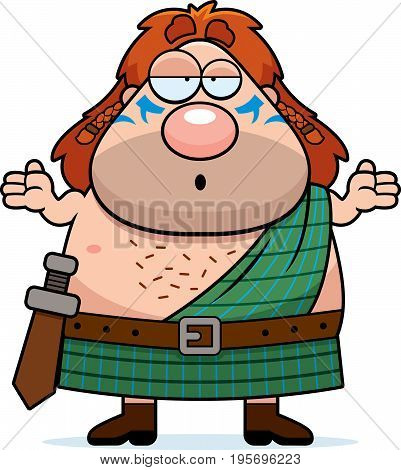 Confused Cartoon Celtic Warrior
