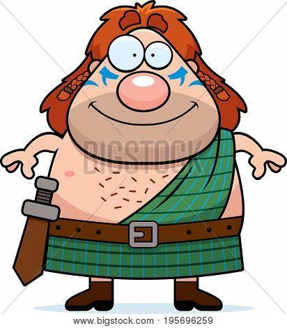 Happy Cartoon Celtic Warrior