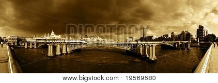 View from Blackfriars bridge, London