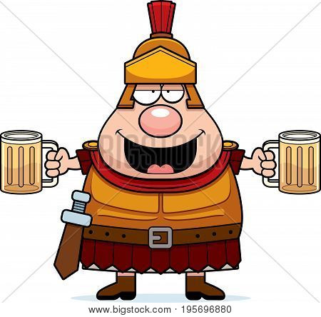 Drunk Cartoon Roman Centurion