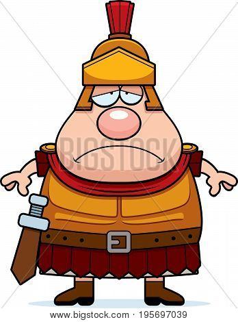 Sad Cartoon Roman Centurion