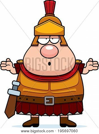 Confused Cartoon Roman Centurion