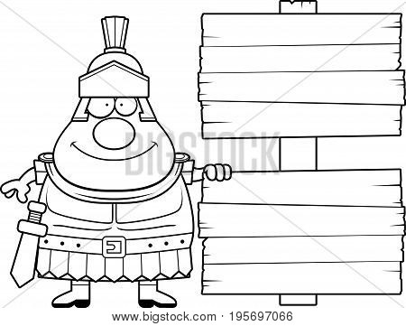 Cartoon Roman Centurion Sign