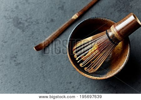 Tea Whisk in a Ceramic Cup