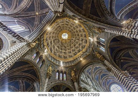Interior Of The Siena Cathedral In Italy