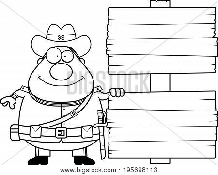 Cartoon Confederate Soldier Sign