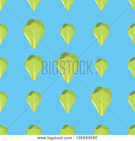 Salad vector seamless pattern. Cartoon vegetable stylish texture. Repeating salad vegetables seamless pattern background for eco bio vegetables design and web