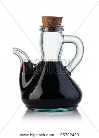 balsamic vinegar isolated on white background